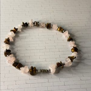Handmade Stone Bracelet with Silver Spacers